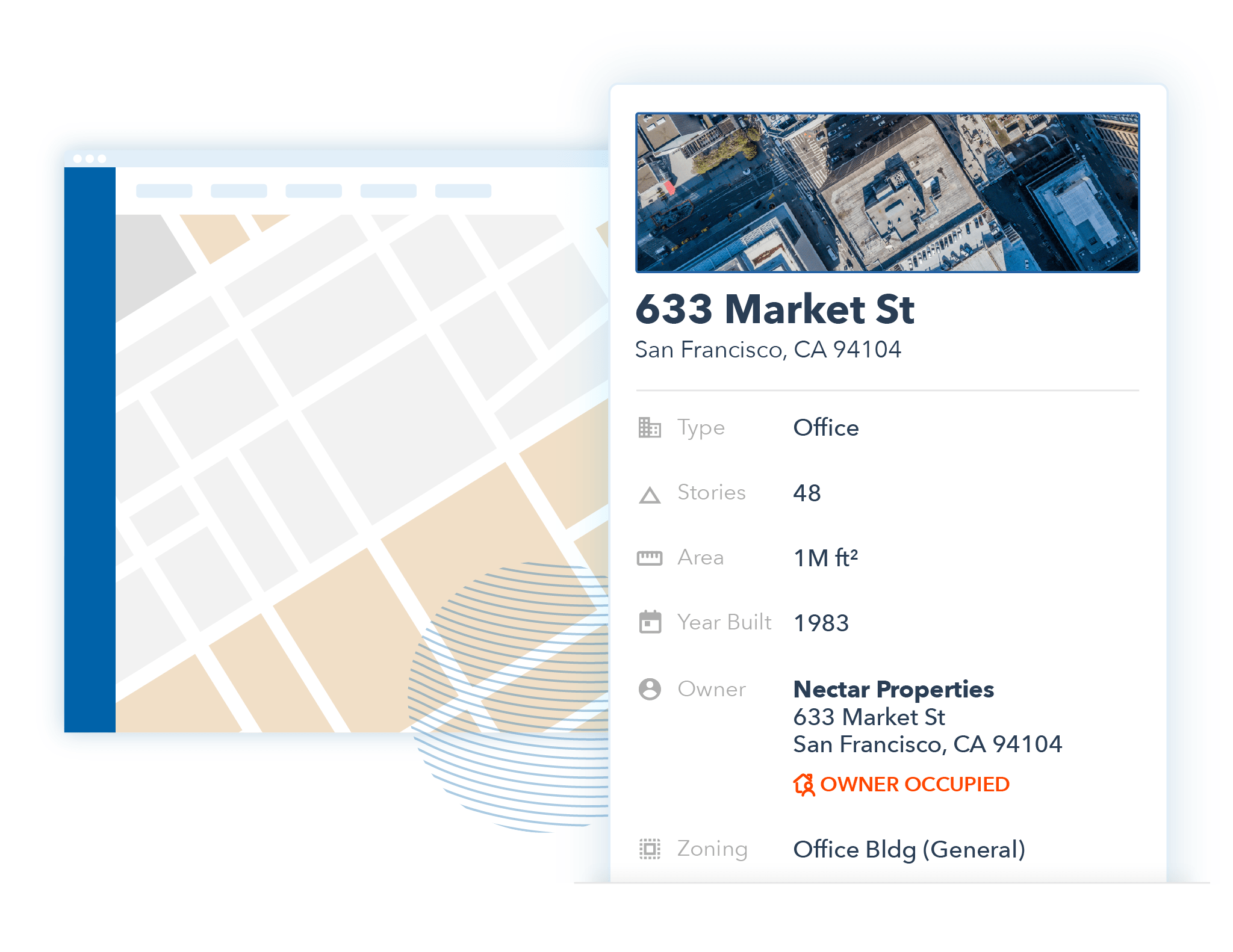 Illustration of the Atlas interface: Property details
